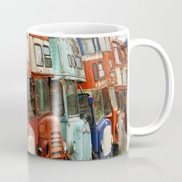 London Busses with Patina Coffee Mug