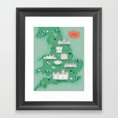 English Estates Map Framed Art Print