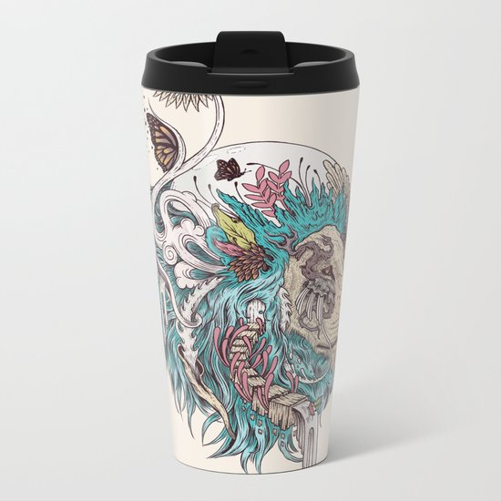 Unbound Autonomy (Blue) Metal Travel Mug