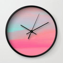 Rose Quartz Haze Wall Clock