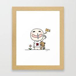 K Young-HI Framed Art Print