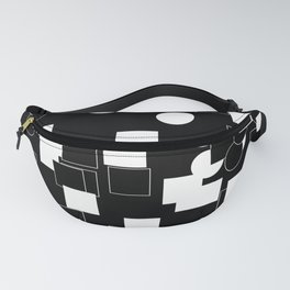 White and Black Fanny Pack