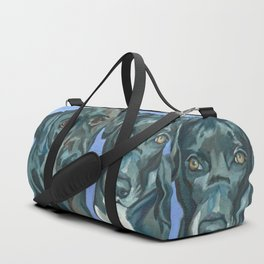 Emily and Annabel Dog Portrait Duffle Bag