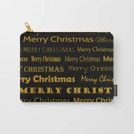Golden Mery Christmas pattern Carry-All Pouch