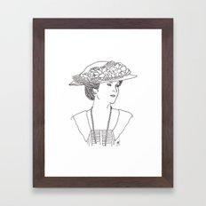 Mary Crawley Framed Art Print