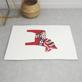 Swedish Dala Horse - Red Rug