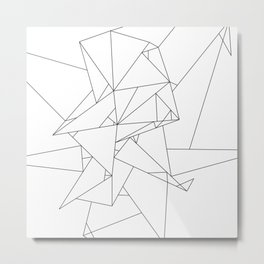 Abstract Origami Metal Print