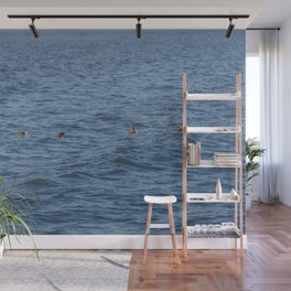 Lucky fishers-puffins Wall Mural