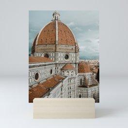 The Duomo Santa Maria del Fiore in Florence, Italy | Church cathedral in Firenze, Tuscany | Photogra Mini Art Print