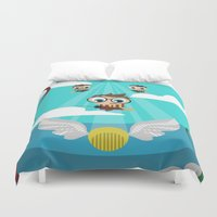 quidditch Duvet Covers featuring QUIDDITCH by Chris Thompson, ThompsonArts.com