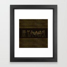 Ancient Sparta  Greece scene on greek pattern Framed Art Print