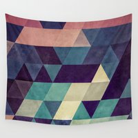 hug Wall Tapestries featuring cryyp by Spires