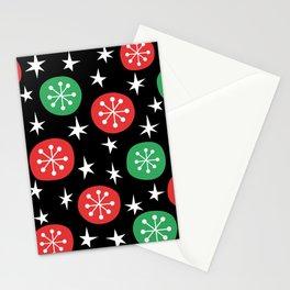 Mid Century Modern Sparkling Stars 244 Stationery Cards