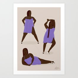 POSE 03 Art Print