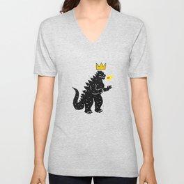 Jean-Michel Basquiat's Crown on Japanese Monster Unisex V-Neck