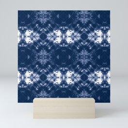 Shibori Tie Dye 1 Indigo Blue Mini Art Print