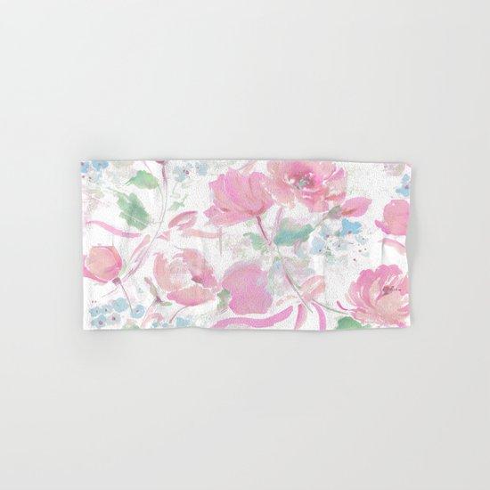 rose ribbons Hand & Bath Towel
