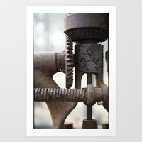 gears of war Art Prints featuring GEARS by The Family Art Project