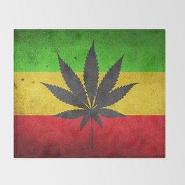 Rasta Flag Throw Blanket
