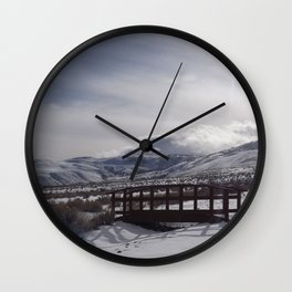 A Winter's Serenity Wall Clock