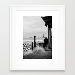 Liberty from the back of The Boat Framed Art Print