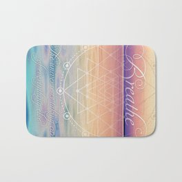 Breathe - Reminder Affirmation Mindful Quote Bath Mat