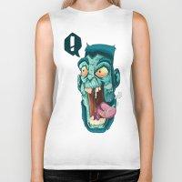 zombie Biker Tanks featuring Zombie. by Rachel Alderson