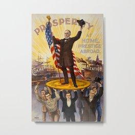 Vintage poster - William McKinley Metal Print
