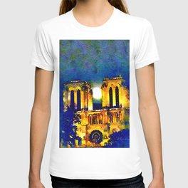 Notre Dame de Paris Full Moon T-shirt