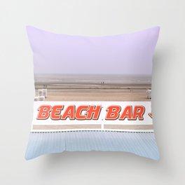 Beach Bar near the Ocean Throw Pillow