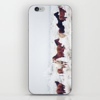 photograph iPhone & iPod Skins featuring Winter Horseland by Kevin Russ