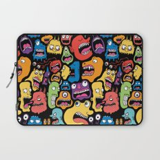 Monster Faces Pattern Laptop Sleeve