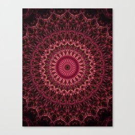 Dark red mandala Canvas Print