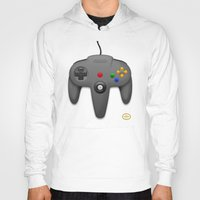 nintendo Hoodies featuring Nintendo 64 by S3NTRYdesigns