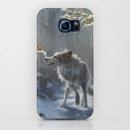 Friends: Wolf & Squirrel in Winter iPhone Case