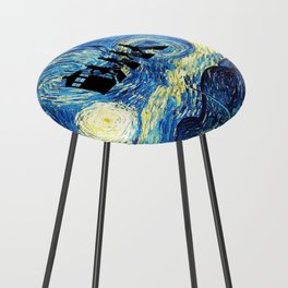 The Doctors Walking Of Starry Night Counter Stool