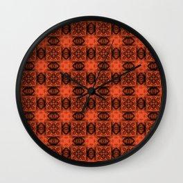Flame Geometric Floral Wall Clock