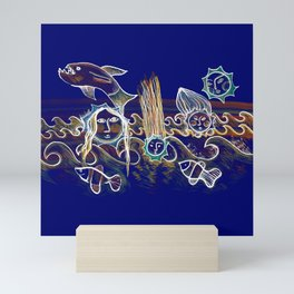 More Suns for Life at Deep Blue Mini Art Print