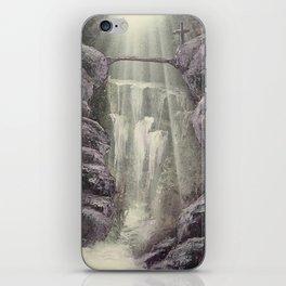 Purple Waterfall iPhone Skin