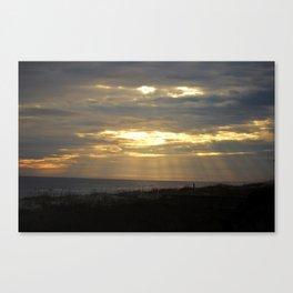 Divine Sunset At Beach Canvas Print