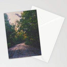 Lightly lit road Stationery Cards