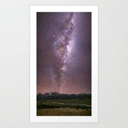 Milky Way at Mt Cook NP Art Print