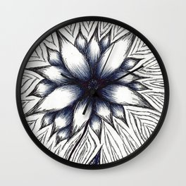 Repetitive Flower Wall Clock