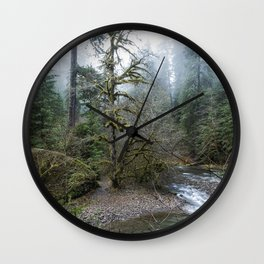 A Creek Runs Through It Wall Clock