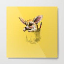Pocket fennec fox Metal Print