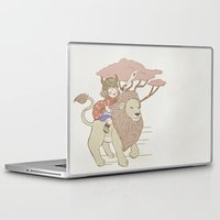 onward Laptop & iPad Skins featuring Onward Feline Steed! by PaperPanda Books