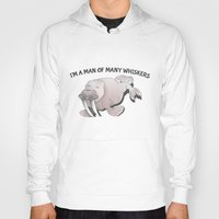 walrus Hoodies featuring Walrus Whiskers by mailboxdisco