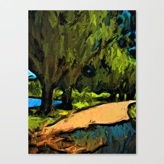 Trees along an Apricot Path Canvas Print