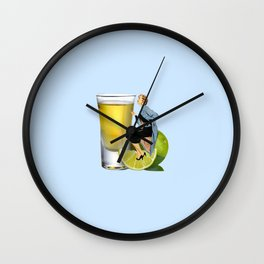 shoot your shot Wall Clock