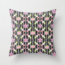 Hanami Nummies   Black Throw Pillow